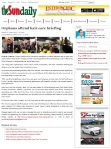 Orphans Attend Hair Care Briefing_theSun 3 Mar15