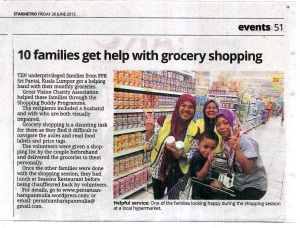 26 june 15_10 Families Get Help With Grocery Support_theStar