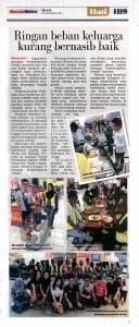 Ringan Beban Keluarga Kurang Bernasib Baik_Harian Metro news